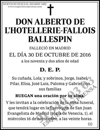 Alberto de L´Hotellerie-Fallois Ballespin